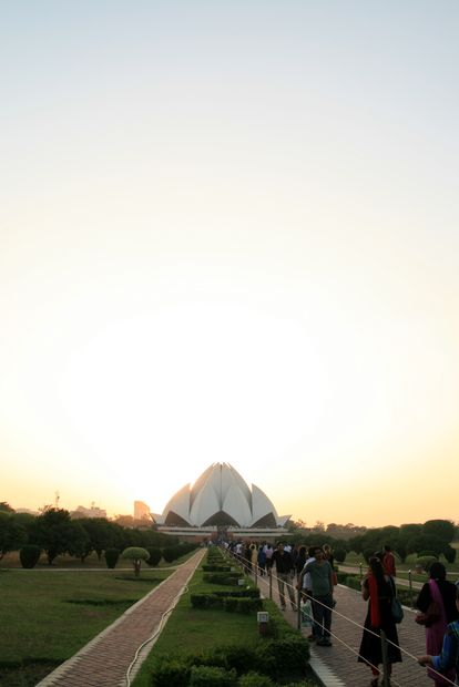 Le Lotus temple de New Delhi