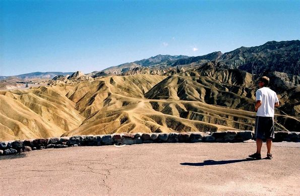 Zabriski point. La vallée de la mort.