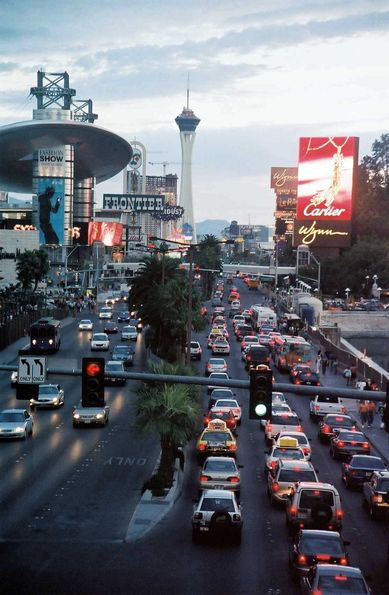 The strip. Las Vegas.