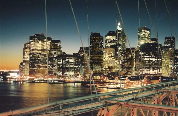 Pont de Brooklyn. New York.