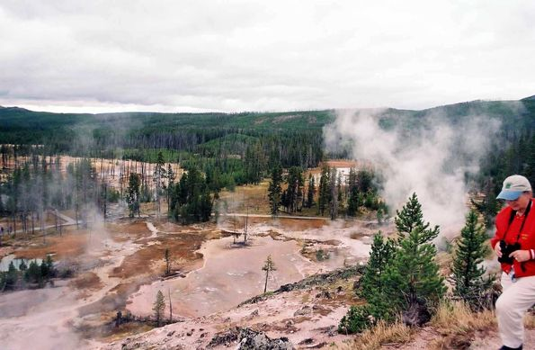 Artist paint point à Yellowstone